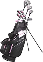 Precise AMG Ladies Womens Complete Golf Clubs Set Includes Driver, Fairway, Hybrid, 6-PW Irons, Putter, Stand Bag, 3 H/C's - Choose Color and Size!