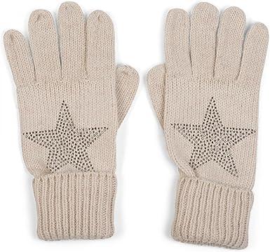 einfarbig warme Strickhandschuhe mit doppeltem Bund Unisex Winter 09010005 styleBREAKER klassische Handschuhe Fingerhandschuhe