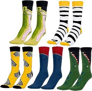 5 pares de Calcetines Estampados Colores Hombres Mujeres Termicos Invierno Divertidos Calcetín de Algodón Unisex Adulto