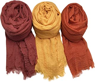 AxeSickle Women Scarf Shawl for All Seasons 3PCS Scarves Wrap Head Scarves.
