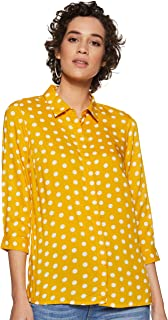 Honey by Pantaloons Women's Polka dot Regular fit Top