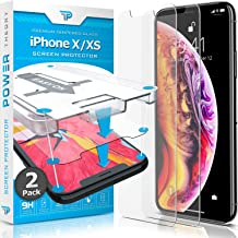 Power Theory iPhone X/iPhone Xs Glass Screen Protector [2-Pack] with Easy Install Kit [Premium Tempered Glass]