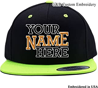 Custom Hat. 6089 Snapback. Embroidered. Place Your Own Text