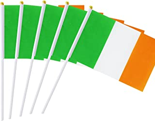 Best Kind Girl 25 Pack Hand Held Small Mini Flag Ireland Flag Irish Stick Flag Round Top National Country Flags,Party Decorations Supplies for Parades,World Cup,Festival Events,International Festival Review