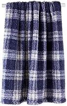 DII Farmhouse Plaid Collection Plush Throw, 50x60, French Blue