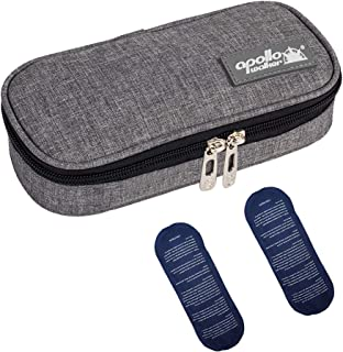 Apollo Walker Insulin Cooler Travel Case Diabetic Medication Cooler with 2 Ice Packs and..