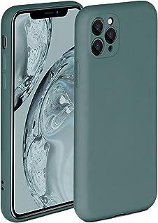 ONEFLOW Soft Case kompatibel mit iPhone 11 Pro Max Hülle aus Silikon, erhöhte Kante für Bildschirmschutz, zweilagig, weiche Handyhülle   matt Petrol