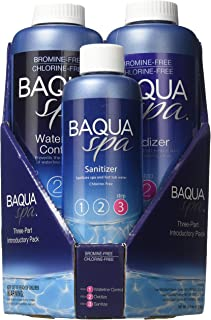 Baqua Spa 88863 3-Part Introductory Pack Spa Maintenance, Clear