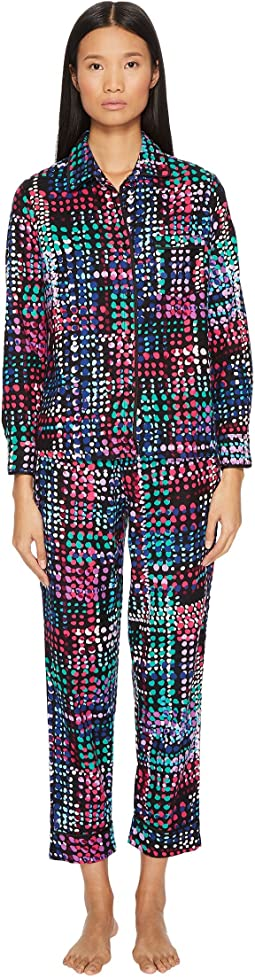 Kate Spade New York Classic Brushed Twill Pajama Set - Gift Packaged