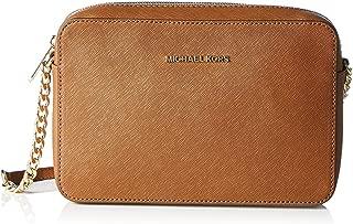 camel color leather handbag