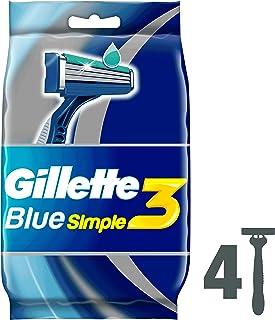Gillette Blue Simple3 Men s Disposable Razors 4 Count
