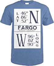 Fargo, North Dakota - Latitude and Longitude (Blue) 67036 (Heather Royal T-Shirt XX-Large)