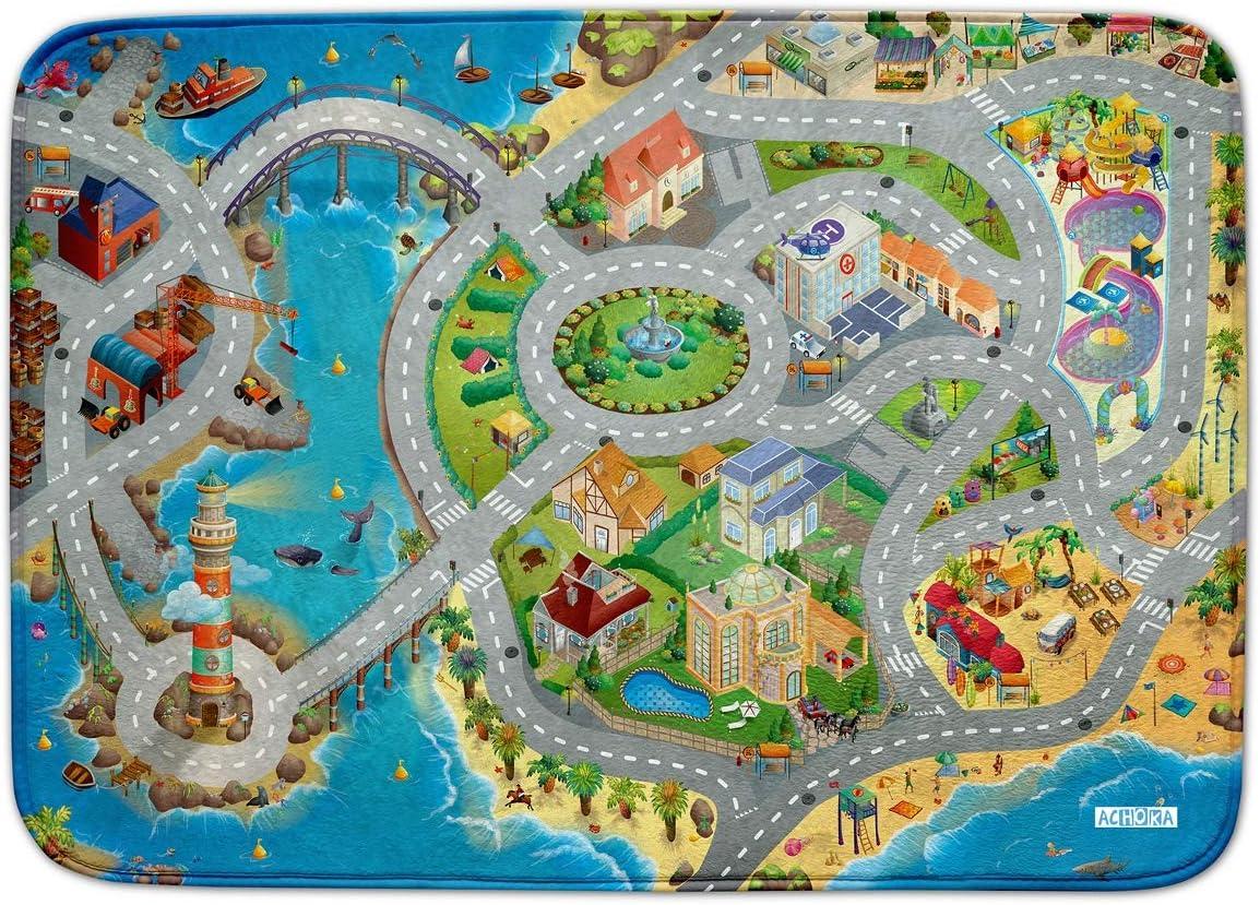 Alfombra de juego Ultrasoft antideslizante 130 x 180 cm azul Seaside costa 130 x 180 Talla:130x180