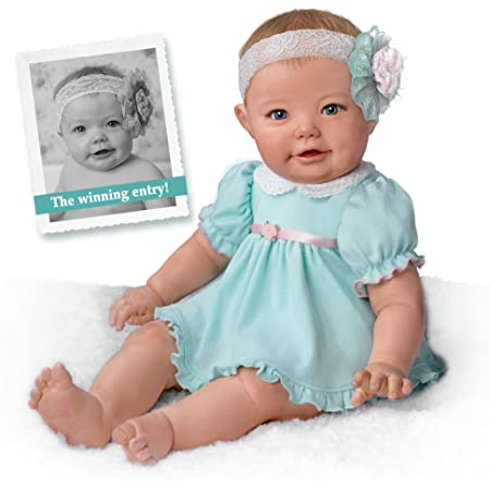 Light Of My Life So Truly Real/® Handcrafted Baby Doll and Custom-Designed Ottoman Set Complete With An Adorable Light Up Satin Skirt And Perfectly Hand-painted Features