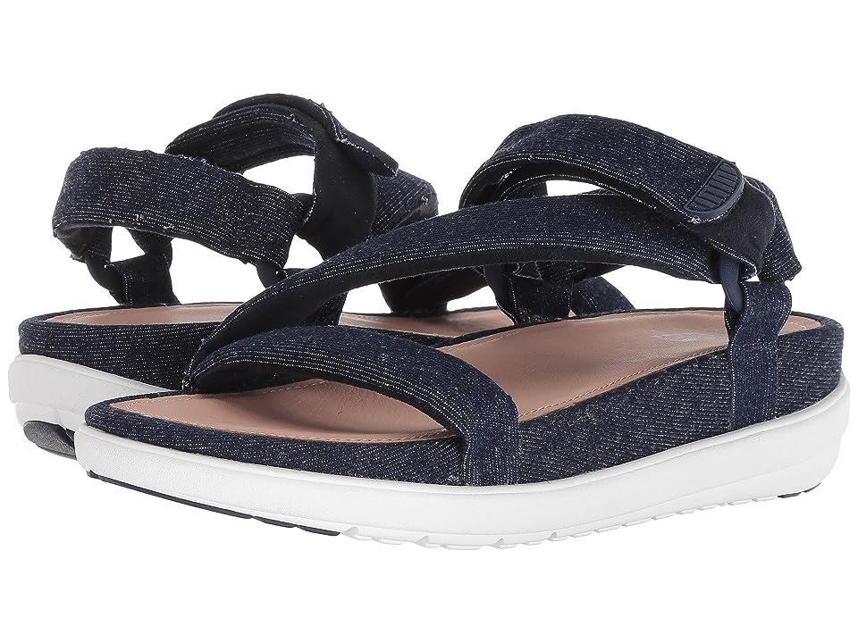 FitFlop Loosh Luxetm Z-Strap Denim Sandals (Dark Blue Denim) Women