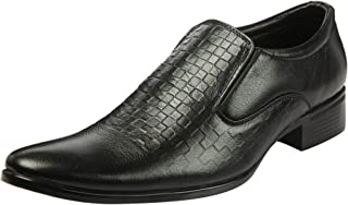 Heels & Shoes Men's Natural LeatherSlip-on Textured Shoes