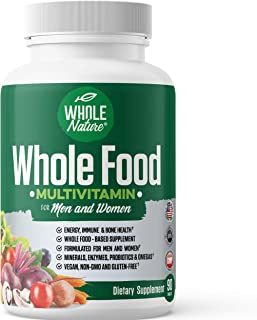 Whole Food Multivitamin for Men and Women : Whole Nature Complete Daily Superfood Vitamins Plus Minerals Di...