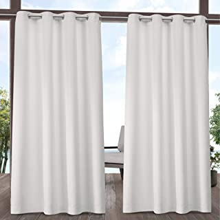 Exclusive Home Curtains Indoor/Outdoor Solid Panel Pair, 54x84, Vanilla
