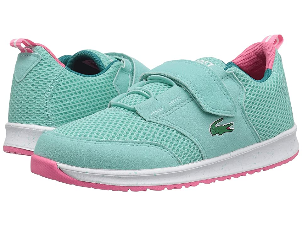 Lacoste Kids L.ight (Little Kid) (Turquoise/Pink) Girl