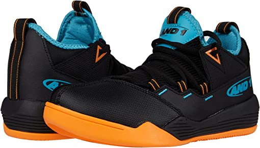 Black/Orange/Aqua Blue