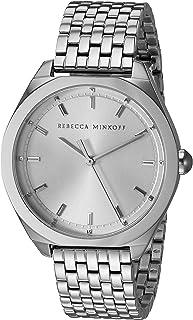 Rebecca Minkoff Women's Amari Quartz Watch with Stainless Steel Strap, Silver, 17 (Model: 2200325)
