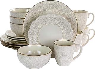amazon com dinnerware sets ivory