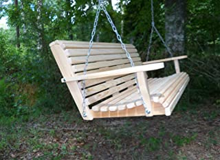 6 Ft Cypress Rolled Porch Swing