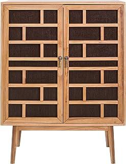Rebecca Mobili Aparador marrón Muebles para el salón 2 Puertas Madera marrón Estilo contemporáneo - Medidas: x 120 x 9...
