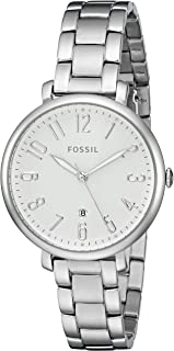 Fossil Women's Jacqueline ES3969 Silver Stainless-Steel Quartz Fashion Watch