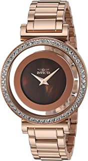 Invicta Women's Angel Quartz Watch with Stainless Steel Strap, Rose Gold, 16 (Model: 28496)