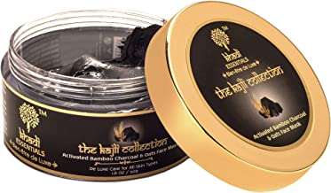 Khadi Essentials Charcoal Vitamin C Face Mask with Oats, Multani Mitti, Cucumber For Exfoliation, Blackheads, Dead Skin, D...