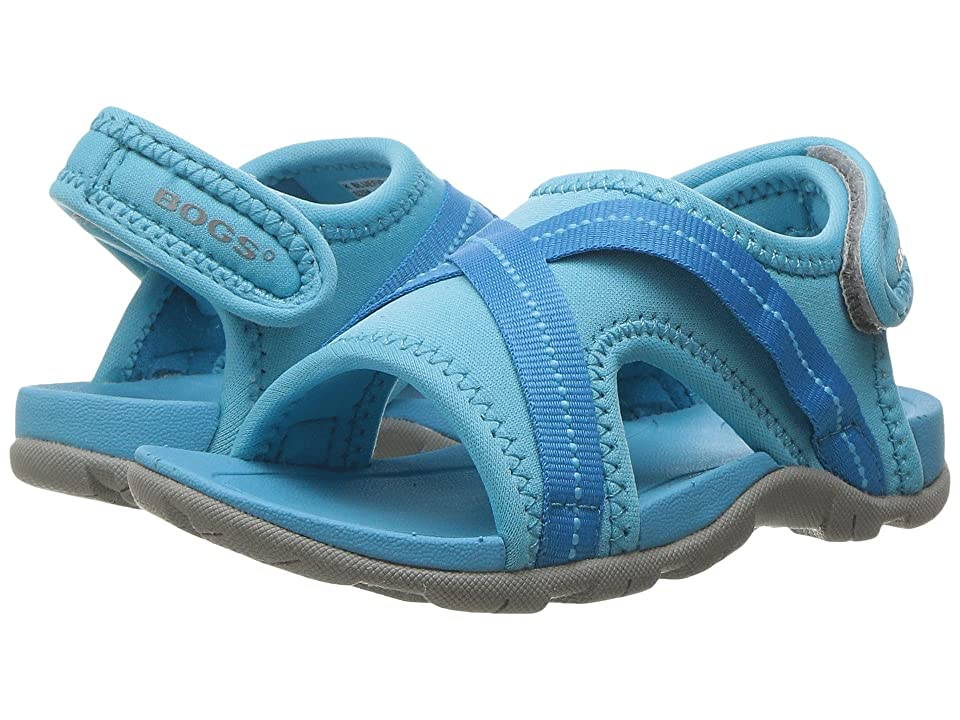 Bogs Kids Keegan Sandal (Toddler/Little Kid) (Light Blue Multi) Kids Shoes