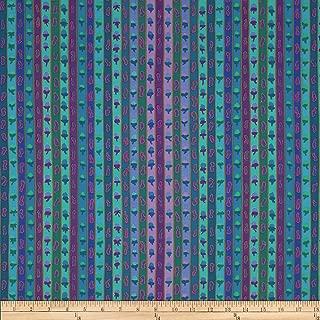 FreeSpirit Fabrics Kaffe Fasset Ribbon Stripe Blue Fabric By The Yard