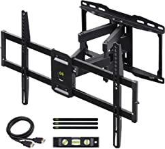 USX MOUNT Full Motion TV Wall Mount for Most 37-75 inch Flat Screen/LED/4K TVs, TV Mount Bracket Dual Swivel Articulating Tilt 6 Arms with Max VESA 600x400mm and Fits 12