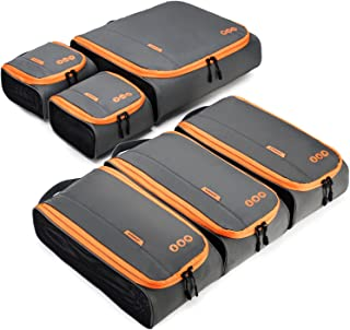 BAGSMART 6 Sets Packing Cubes 3 Sizes Portable Travel Luggage Organizer for Carry-on Accessories