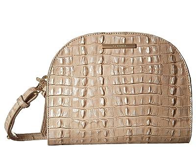 Brahmin Leah Crossbody (Warm Gray) Cross Body Handbags
