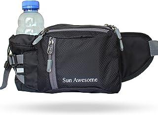 Sun Awesome Hiking Fannypack Fanny Pack Packs Belt Hip Waist Bag with Water Bottle Holder for Men Mens Women Fashionable R...