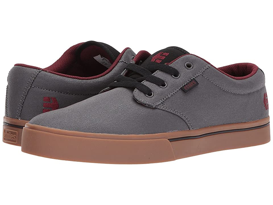 etnies Jameson 2 Eco (Grey/Gum/Red) Men's Skate Shoes, Green