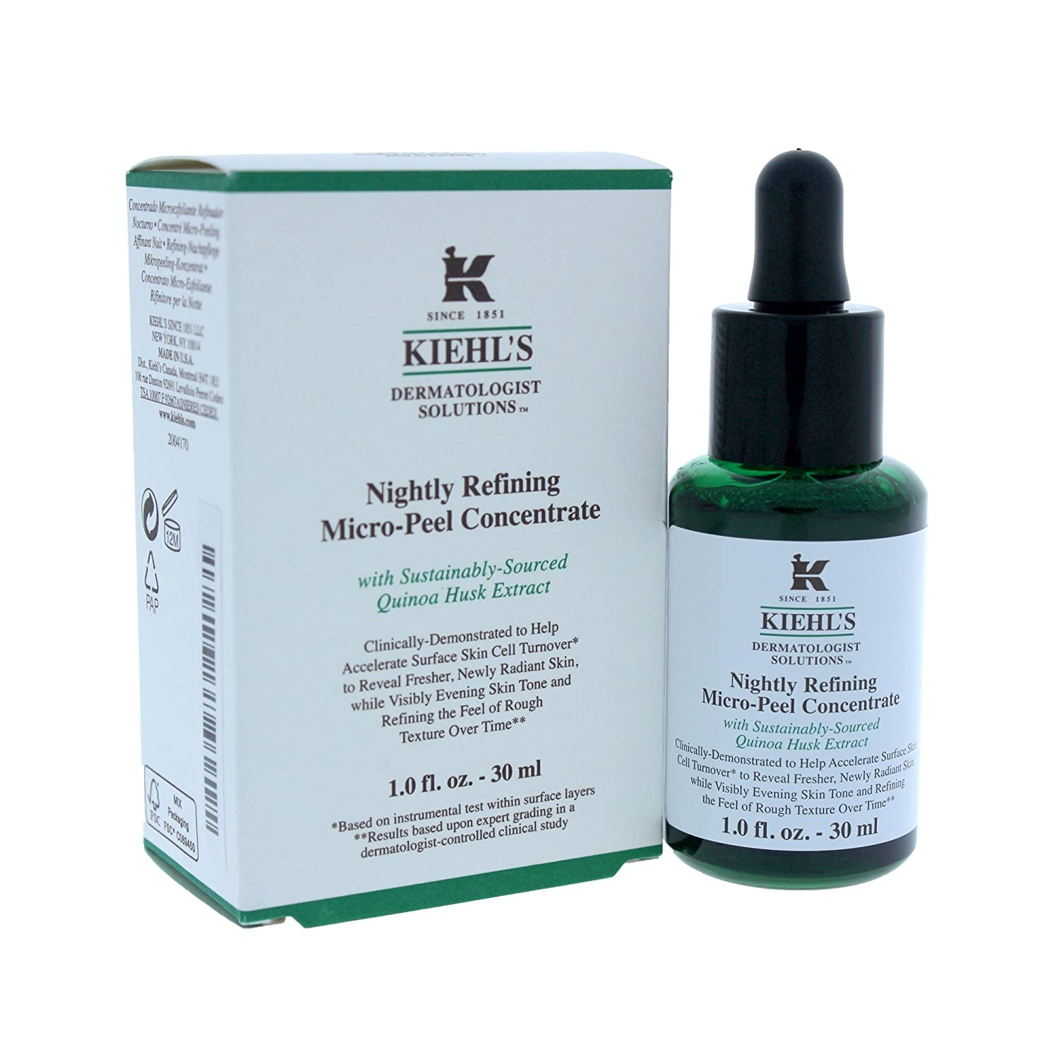 Kiehl's Nightly Weekly update Refining Micro-peel Max 79% OFF Concentrate for Treatment Wo
