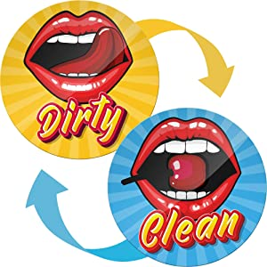 Dishwasher Magnet Clean Dirty Funny Lips - Housewarming Gifts New Home for Women and Men - Creative Gifts for Husband from Wife - Gifts for Dad from Son and Daughter - Clean Dirty Dishwasher Magnet