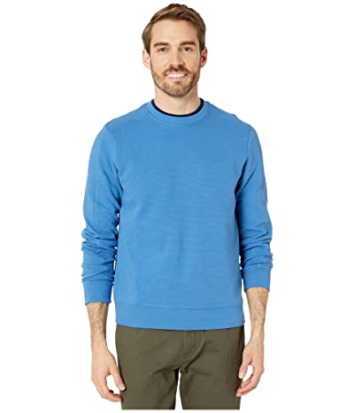 Perry Ellis Ottoman Rib Knit Long Sleeve Shirt (Star Sapphire) Men