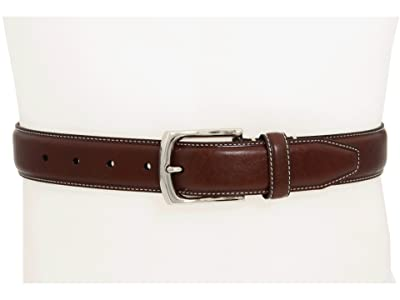Johnston & Murphy Topstitched Belt (Dark Brown) Men