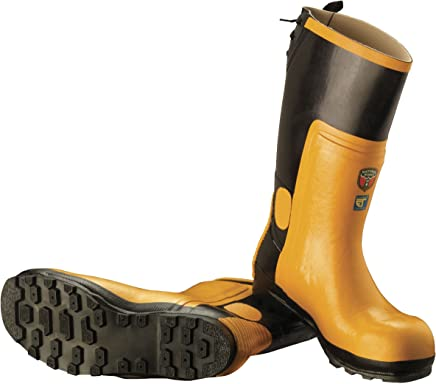 McCulloch CLO005 Protective Rubber Chainsaw Boots with Steel Toe Cap - Size 44