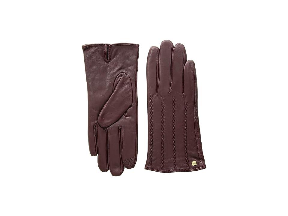 LAUREN Ralph Lauren Modern Hand Crafted Points Touch Gloves (Wine) Extreme Cold Weather Gloves