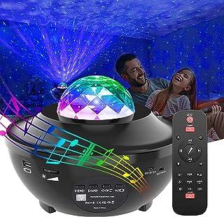 Laser Star Projector Light LED Night Light Projector 3-in-1 Sky Twilight Star Ocean Wave Projection Bluetooth Speaker Voic...