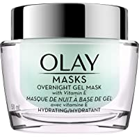 Olay Overnight Face Mask Gel with Vitamin E and Hyaluronic Acid 1.7 Fl Ounce