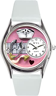 Whimsical Nurse Pink Watch Small in Silver (S-0620047)