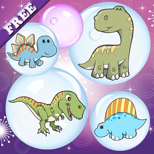 Dinosaurier und Blasen für Kleinkinder und Kinder! Kostenlose App für den Dinosaurier zu entdecken