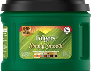 Folgers Simply Smooth Decaf Ground Coffee, Mild Roast, 23 Ounce (Pack of 6), Packaging May Vary