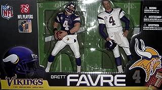 McFarlane Toys NFL Sports Picks Exclusive Action Figure 2Pack Boxed Set Brett Favre (Minnesota Vikings) Home Away Jerseys